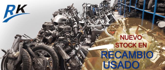 Gran stock de recambios usados para moto BMW.